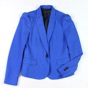 Zara Basic Cobalt Blue Blazer Button Jacket